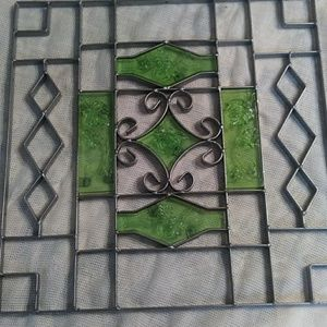 Wrought Iron wall plaque.